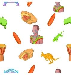 Australia pattern cartoon style vector