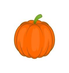 Autumn pumpkin vegetable icon cartoon style vector image