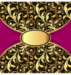 background with a pattern gold vector image