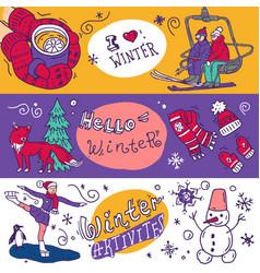 Beautiful hand drawn winter vector