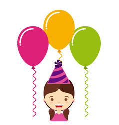 birthday party desig vector image