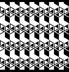 Black and white cubes pattern seamless background vector