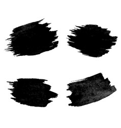 black blobs collection white background vector image