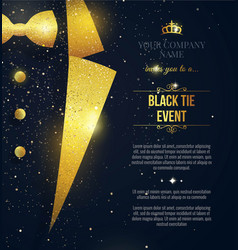 Black tie event invitation elegant black card vector