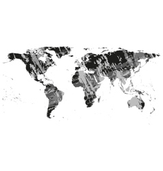 Black World Map vector image