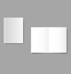 blank opened and closed magazine template on gray vector image