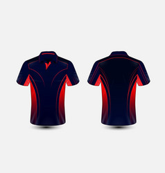 Blue and red layout e-sport t-shirt design vector