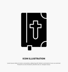 Book bible easter holiday solid glyph icon vector