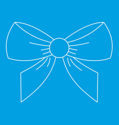 Bow icon outline style vector