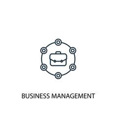Business management concept line icon simple vector