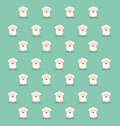 cartoon sheep texture vector image