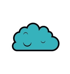 cloud computing isolated icon design vector image