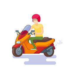 colorful scooter flat concept vector image