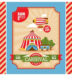 Country fair vintage invitation card vector image