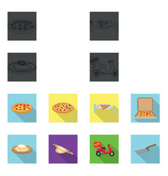 Design of pizza and food sign set of pizza vector