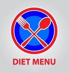 Diet menu vector