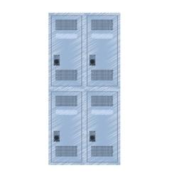 Drawing locker room american football vector