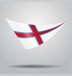 faroe islands flag background vector image