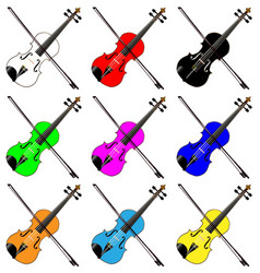 fiddles vector image