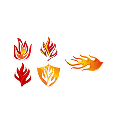 fire template set vector image