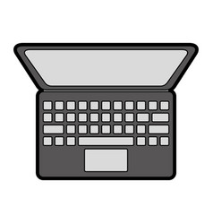 flat laptop cartoon vector image