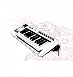 floral keys vector image