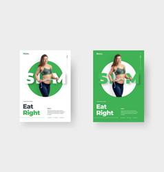 flyer template for print social media advertising vector image