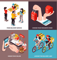 food delivery design concept vector image