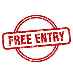 Free entry grunge stamp vector
