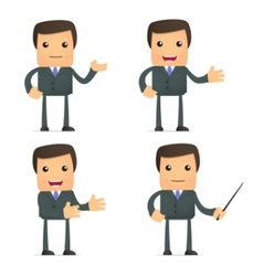 funny cartoon businessman vector image