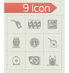 Gas station icon set vector image
