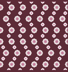geometric flowers in cherry vector image