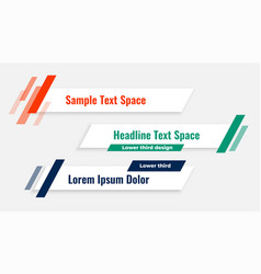 Geometric modern lower third banner template vector