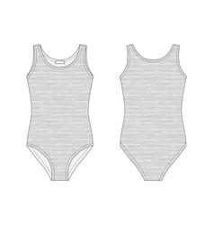 Girls bodies wear in melange fabric lady body vector