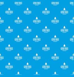 Gmo free bio pattern seamless blue vector