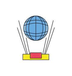 grated global digital connection network vector image