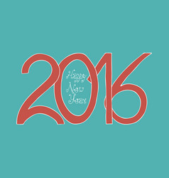 hand draw happy new year 2016 vector image