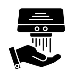 hand dryer icon black sign vector image