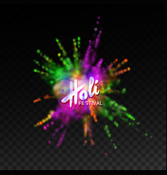 Happy holi festival vector