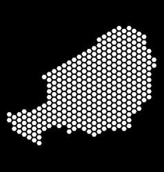 Hex-tile niger map vector