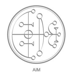 Icon with symbol demon aim vector