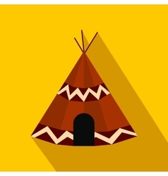 Indian tent flat icon vector image