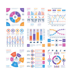Infographics elements flow infograph process vector