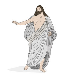 Jesus christ in a shroud vector