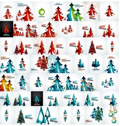 Large mega collection of Christmas cards and vector image
