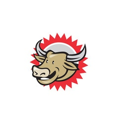 Laughing Cow Head Cartoon vector