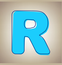 Letter r sign design template element sky vector