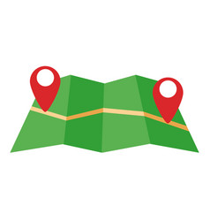 location pointer symbol over a map vector image