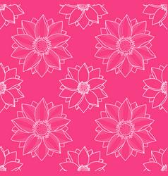 Lotus modern pink seamless pattern vector
