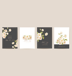 mother day floral spring postcard greeting vector image